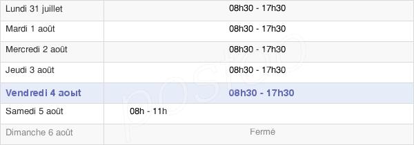 horaires d'ouverture de la Mairie D'Amiens