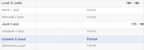 horaires d'ouverture de la Mairie De La Ferté-Sur-Chiers