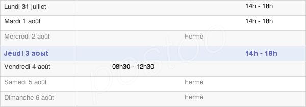 horaires d'ouverture de la Mairie D'Anchamps