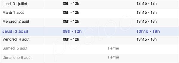 horaires d'ouverture de la Mairie De Vrigne-Aux-Bois