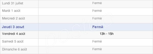 horaires d'ouverture de la Mairie De Condé-Lès-Herpy