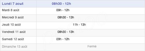 horaires d'ouverture de la Mairie D'Aubigny-Les-Pothées