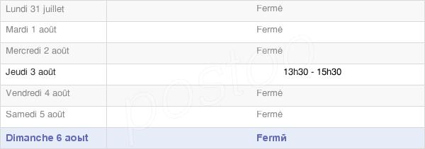 horaires d'ouverture de la Mairie D'Aure