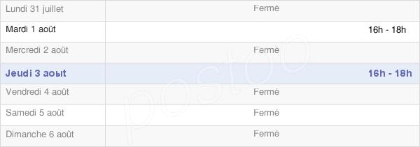 horaires d'ouverture de la Mairie D'Hannogne-Saint-Martin