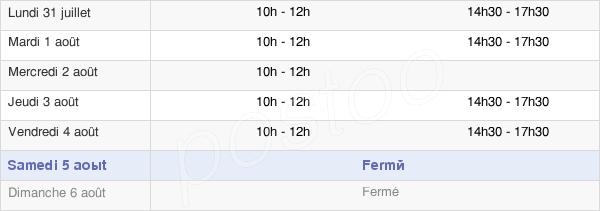 horaires d'ouverture de la Mairie De Rocroi