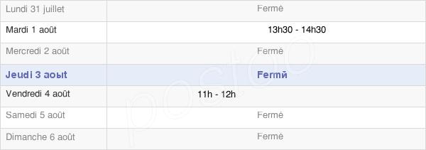 horaires d'ouverture de la Mairie D'Écordal