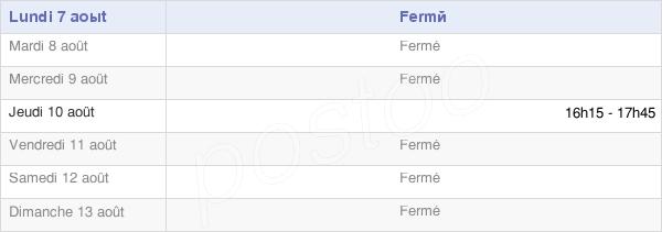 horaires d'ouverture de la Mairie Du Fréty