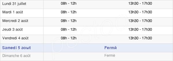 horaires d'ouverture de la Mairie De Blagny