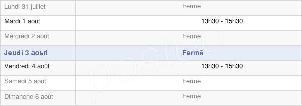 horaires d'ouverture de la Mairie De Biermes