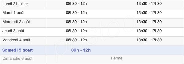 horaires d'ouverture de la Mairie De Rethel