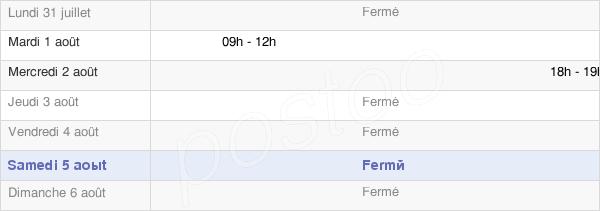 horaires d'ouverture de la Mairie De Belval