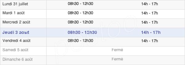 horaires d'ouverture de la Mairie De Vignacourt