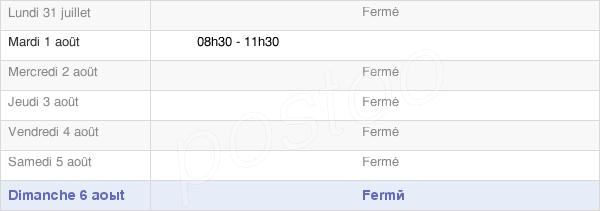 horaires d'ouverture de la Mairie De Rilly-Sur-Aisne