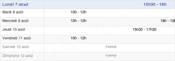 horaires d'ouverture de la Mairie D'Angecourt