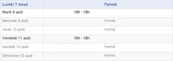 horaires d'ouverture de la Mairie De Signy-Montlibert