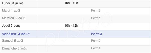 horaires d'ouverture de la Mairie De Puilly-Et-Charbeaux