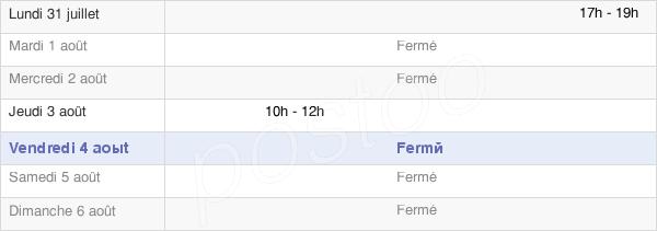 horaires d'ouverture de la Mairie De Pouru-Aux-Bois