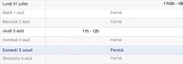 horaires d'ouverture de la Mairie D'Aire