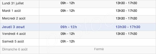 horaires d'ouverture de la Mairie De Renwez
