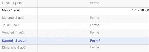 horaires d'ouverture de la Mairie De Saint-Étienne-À-Arnes