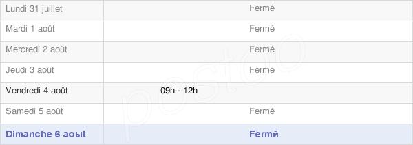 horaires d'ouverture de la Mairie D'Euilly-Et-Lombut