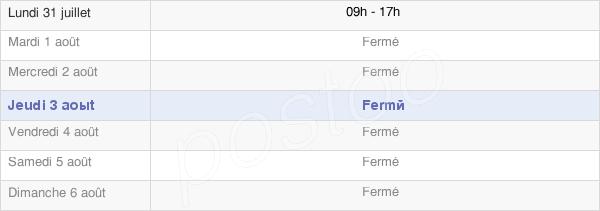 horaires d'ouverture de la Mairie D'Auflance