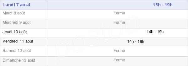 horaires d'ouverture de la Mairie De Bosseval-Et-Briancourt