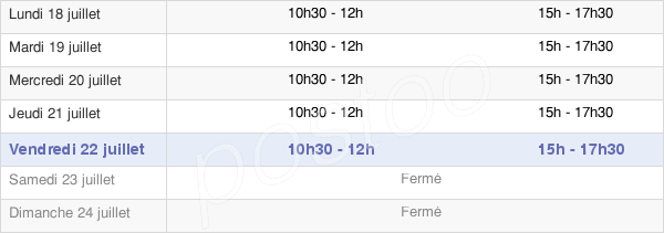 horaires d'ouverture de la Mairie De Floing