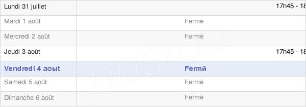 horaires d'ouverture de la Mairie D'Hannogne Saint Rémy