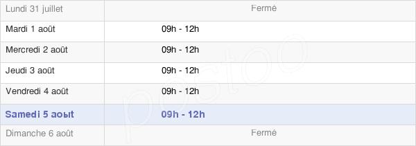 horaires d'ouverture de la Mairie De Grandpré