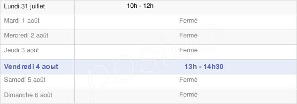 horaires d'ouverture de la Mairie De Saint-Lambert-Et-Mont-De-Jeux
