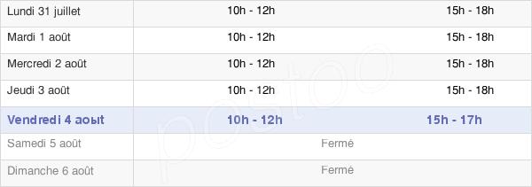 horaires d'ouverture de la Mairie De Vireux-Molhain