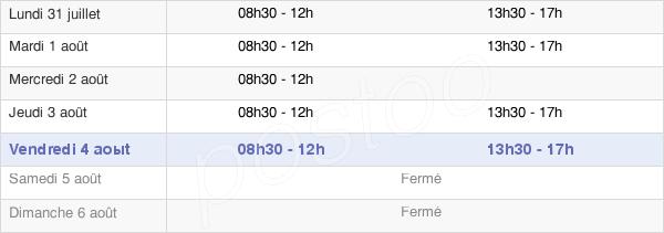 horaires d'ouverture de la Mairie Des Mazures