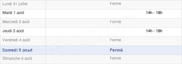 horaires d'ouverture de la Mairie De Fresneville