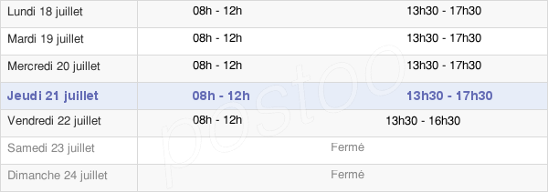 horaires d'ouverture de la Mairie De Nouzonville