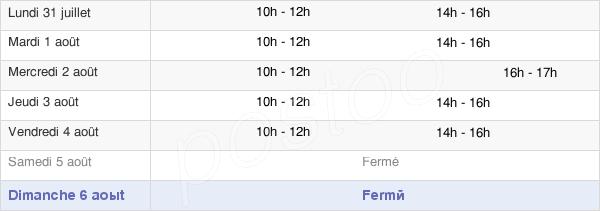 horaires d'ouverture de la Mairie De Maubert-Fontaine