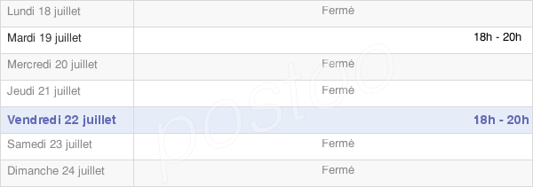 horaires d'ouverture de la Mairie De Ham-Sur-Meuse