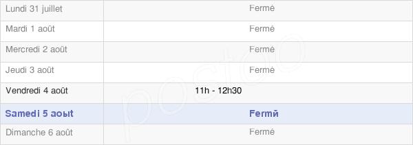 horaires d'ouverture de la Mairie De Marvaux-Vieux