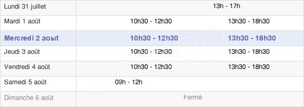 horaires d'ouverture de la Mairie De Gespunsart