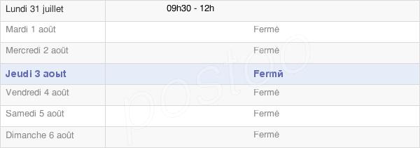horaires d'ouverture de la Mairie De Germont
