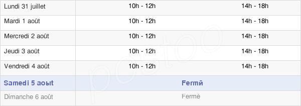 horaires d'ouverture de la Mairie De Vireux-Wallerand