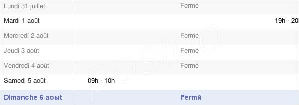 horaires d'ouverture de la Mairie De Montcornet
