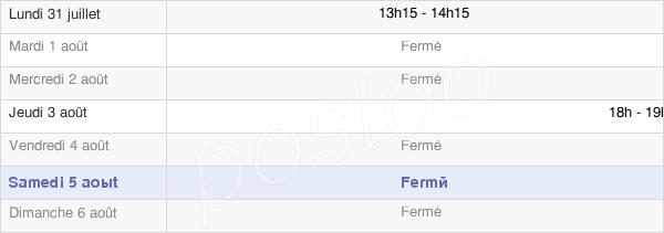 horaires d'ouverture de la Mairie De Louvergny