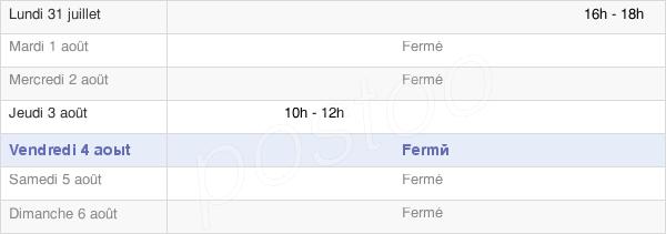 horaires d'ouverture de la Mairie De Perthes