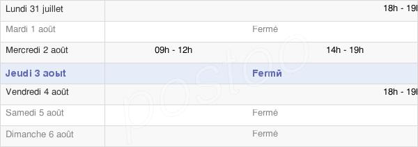 horaires d'ouverture de la Mairie De Hargnies