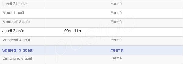 horaires d'ouverture de la Mairie De Mont-Saint-Martin