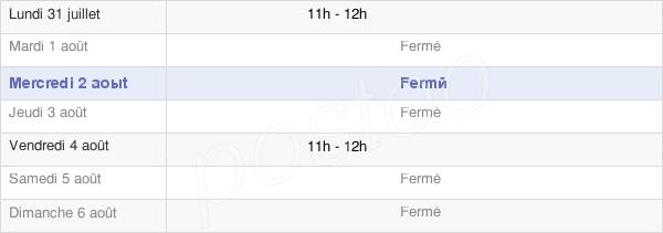 horaires d'ouverture de la Mairie De Montgon