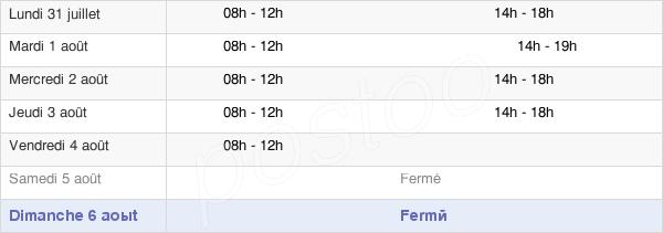 horaires d'ouverture de la Mairie De Machault