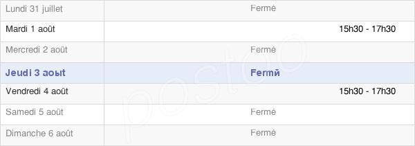horaires d'ouverture de la Mairie De Fépin