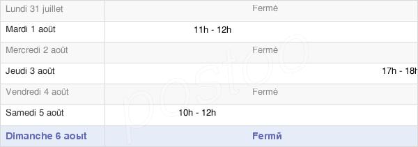 horaires d'ouverture de la Mairie De Montigny-Les-Jongleurs